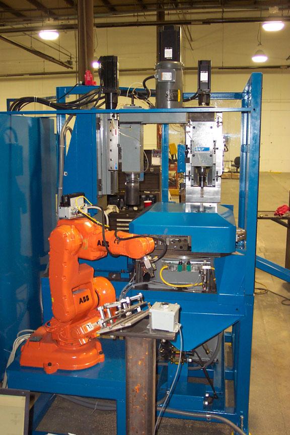 Integrated ABB robotic machine tender