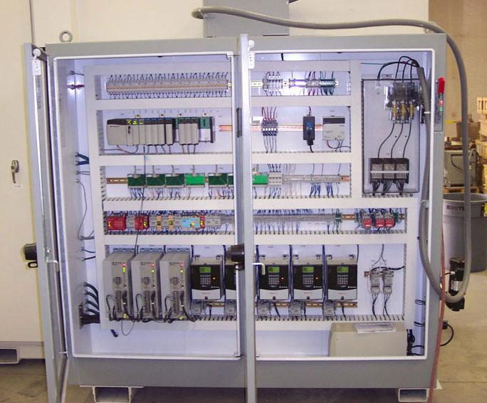Custom designed machine control panel