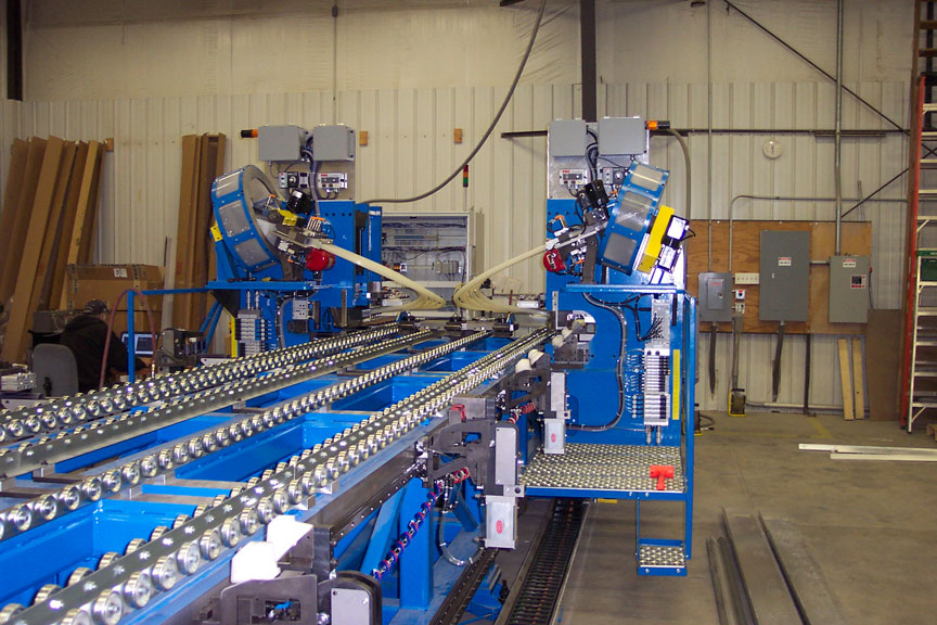 Large, automated, air driven, motorized, product assembly machine