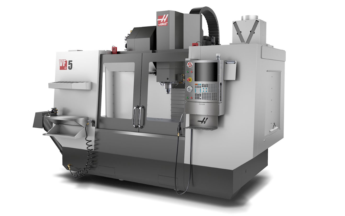 Haas VF5 Vertical Mill Machining Center, 50 Taper, 3 Axis