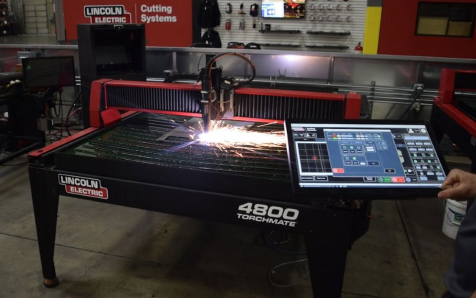 Torchmate CNC Plasma Cutting Table used by fabricators for cutting metal parts.