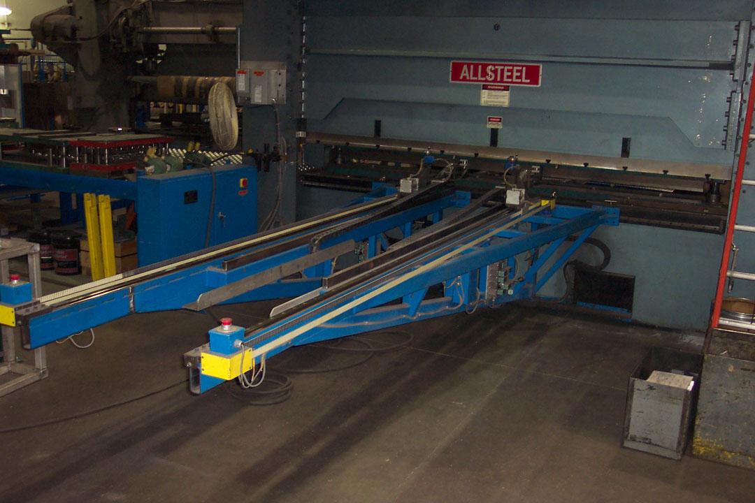 Brake press panel positioner