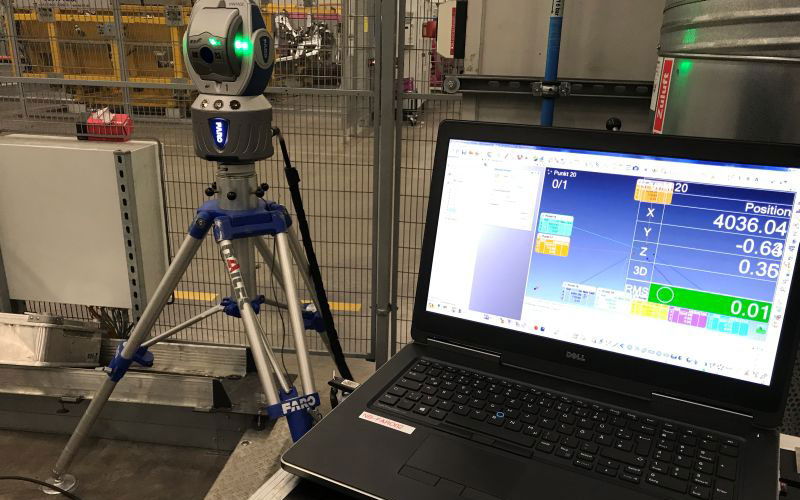 Faro Lazer Tracker is ideal for alignment of machine tools, fixture alignment, CMM alignment and more.