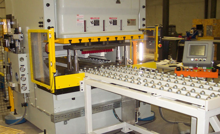 Panel processing cell integrated with punch press
